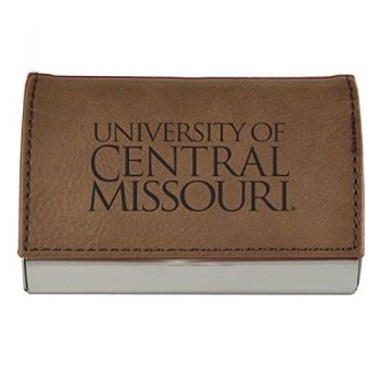 Velour Business Cardholder-University of Central Missouri-Brown