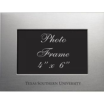 Texas Southern University - 4x6 Brushed Metal Picture Frame - Silver
