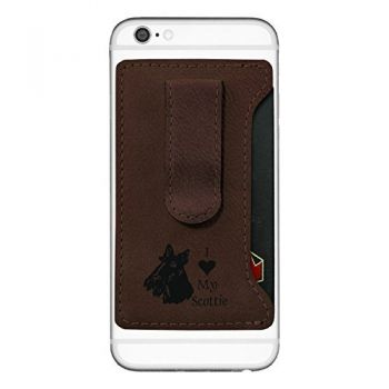 Cell Phone Card Holder Wallet with Money Clip  - I Love My Scottish Terrier