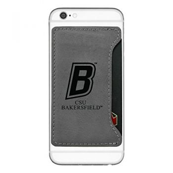 California State University, Bakersfield-Cell Phone Card Holder-Grey