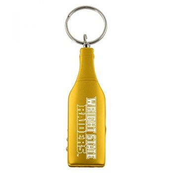 Wright State university-Wine Shaped Bottle Opener-Gold