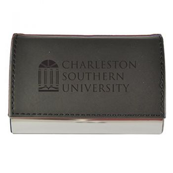 Velour Business Cardholder-Charleston Southern University-Black