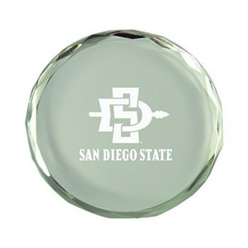 San Diego State University-Crystal Paper Weight