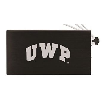 8000 mAh Portable Cell Phone Charger-University of Wisconsin-Platteville-Black