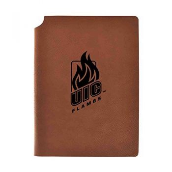 University of Illinois at Chicago Velour Journal with Pen Holder|Carbon Etched|Officially Licensed Collegiate Journal|