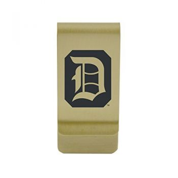 Drexel University|Money Clip with Contemporary Metals Finish|Solid Brass|High Tension Clip to Securely Hold Cash, Cards and ID's|Silver