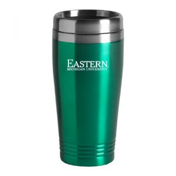Eastern Michigan University-16oz. Stainless Steel Vacuum Insulated Travel Mug Tumbler-Green