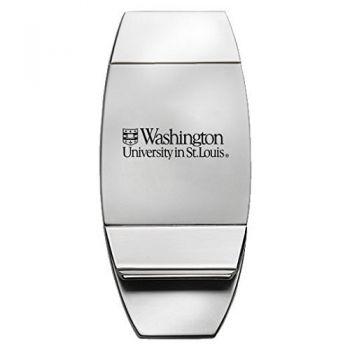 Washington University in St. Louis - Two-Toned Money Clip - Silver