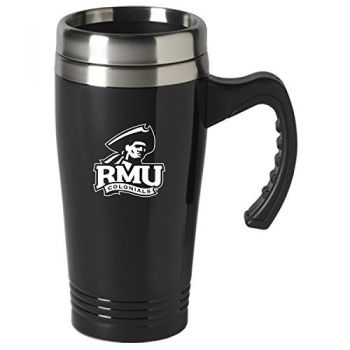 Robert Morris University-16 oz. Stainless Steel Mug-Black