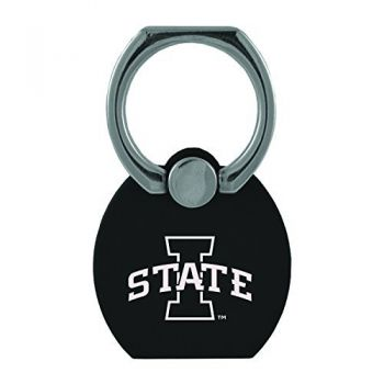 Iowa State University|Multi-Functional Phone Stand Tech Ring|Black
