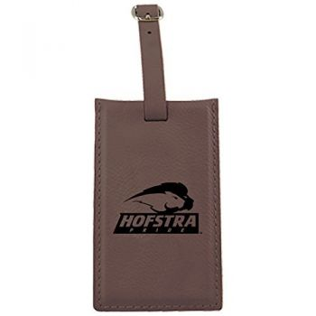 Hofstra University -Leatherette Luggage Tag-Brown