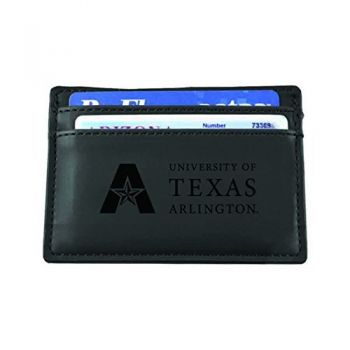 University of Texas at Arlington-European Money Clip Wallet-Black