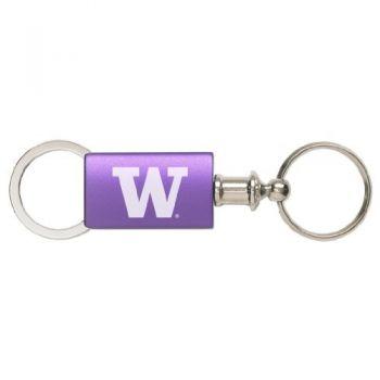 University of Washington - Anodized Aluminum Valet Key Tag - Purple