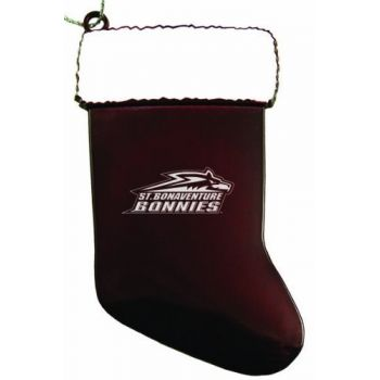 St. Bonaventure University - Christmas Holiday Stocking Ornament - Burgundy