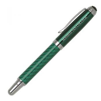 Manhattan College - Carbon Fiber Rollerball Pen - Green