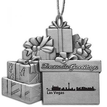 Pewter Gift Display Christmas Tree Ornament - Las Vegas City Skyline