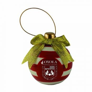 Loyola University Chicago -Christmas Bulb Ornament
