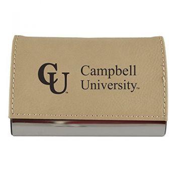 Velour Business Cardholder-Campbell University-Tan