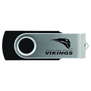 Portland State University -8GB 2.0 USB Flash Drive-Black