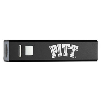 University of PittsBURh - Portable Cell Phone 2600 mAh Power Bank Charger - Black