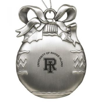 University of Rhode Island - Pewter Christmas Tree Ornament - Silver