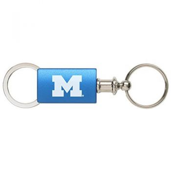 University of Michigan - Anodized Aluminum Valet Key Tag - Blue