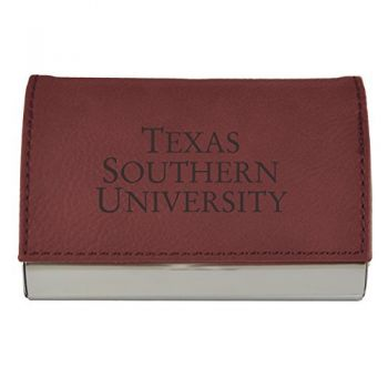 Velour Business Cardholder-Texas Southern University-Burgundy