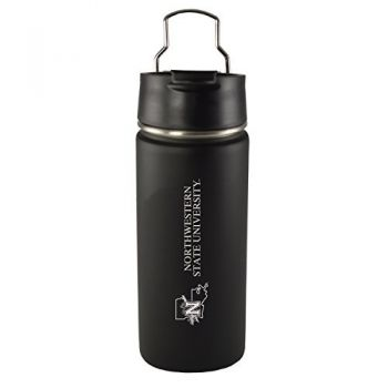 Northwestern State University -20 oz. Travel Tumbler-Black