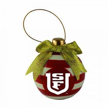 University of San Francisco -Christmas Bulb Ornament