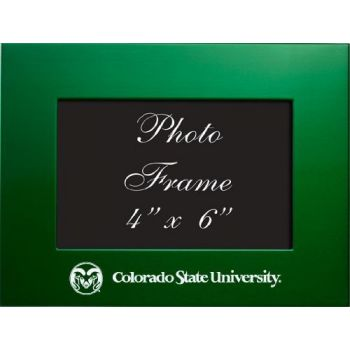Colorado State University - 4x6 Brushed Metal Picture Frame - Green