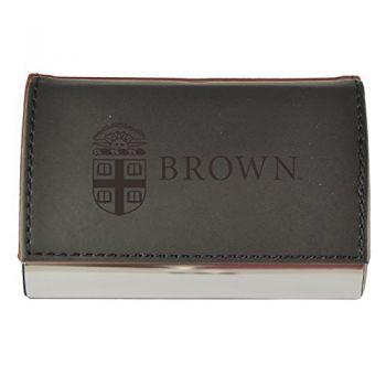 Velour Business Cardholder-Brown University-Black