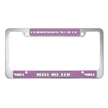 Tennessee State University -Metal License Plate Frame-Pink