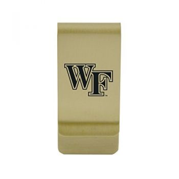 West Virginia University|Money Clip with Contemporary Metals Finish|Solid Brass|High Tension Clip to Securely Hold Cash, Cards and ID's|Silver
