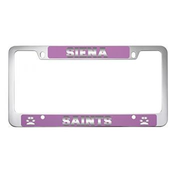 Siena College-Metal License Plate Frame-Pink
