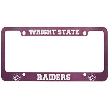 Wright State university -Metal License Plate Frame-Pink