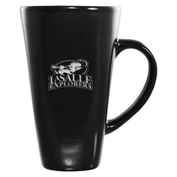 La Salle State University -16 oz. Tall Ceramic Coffee Mug-Black