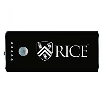 Rice University -Portable Cell Phone 5200 mAh Power Bank Charger -Black