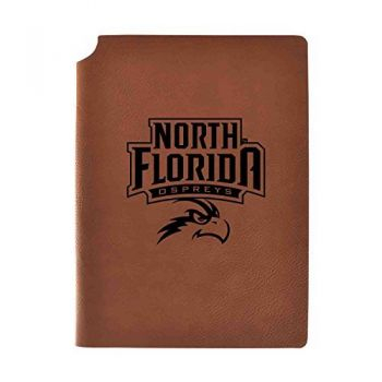 University of North Florida Velour Journal with Pen Holder|Carbon Etched|Officially Licensed Collegiate Journal|