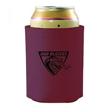 University of Alabama at Birmingham -Leatherette Beverage Can Cooler-Burgundy