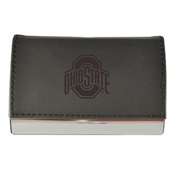 Velour Business Cardholder-Ohio State University-Black