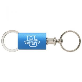 Marquette University - Anodized Aluminum Valet Key Tag - Blue