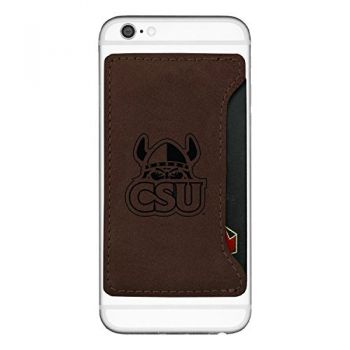 Cleveland State University-Cell Phone Card Holder-Brown