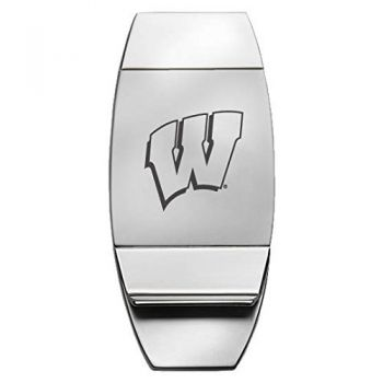 University of Wisconsin??Madison - Two-Toned Money Clip - Silver