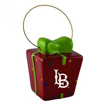 Long Beach State University-3D Ceramic Gift Box Ornament