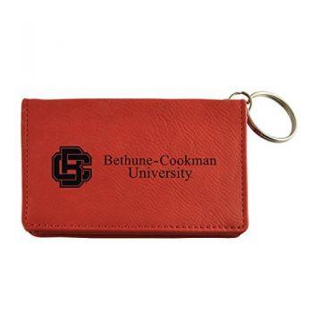 Velour ID Holder-Bethune-Cookman University-Burgundy