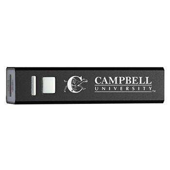 Campbell University - Portable Cell Phone 2600 mAh Power Bank Charger - Black