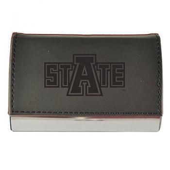 Velour Business Cardholder-Arkansas State University-Black