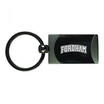 Fordham University-Two-Toned Gun Metal Key Tag-Gunmetal