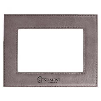 Belmont University-Velour Picture Frame 4x6-Grey