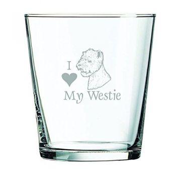 13 oz Cocktail Glass  - I Love My Westie